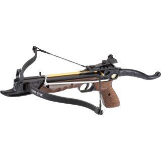 Pistolenarmbrust PoeLang Cobra MX - 80 lbs - Aluminium schwarz/Holzoptik